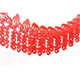 Amazon double happiness traditional chinese wedding dmeiling chinese traditional wedding decoration supplies red hi word pull flowers big red oil plastic junglespirit Choice Image