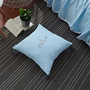 cushionliu contratadas y contemporáneo engrosamiento franela Mao Quan algodón cojín almohada 45* 45cm ingenuo azul