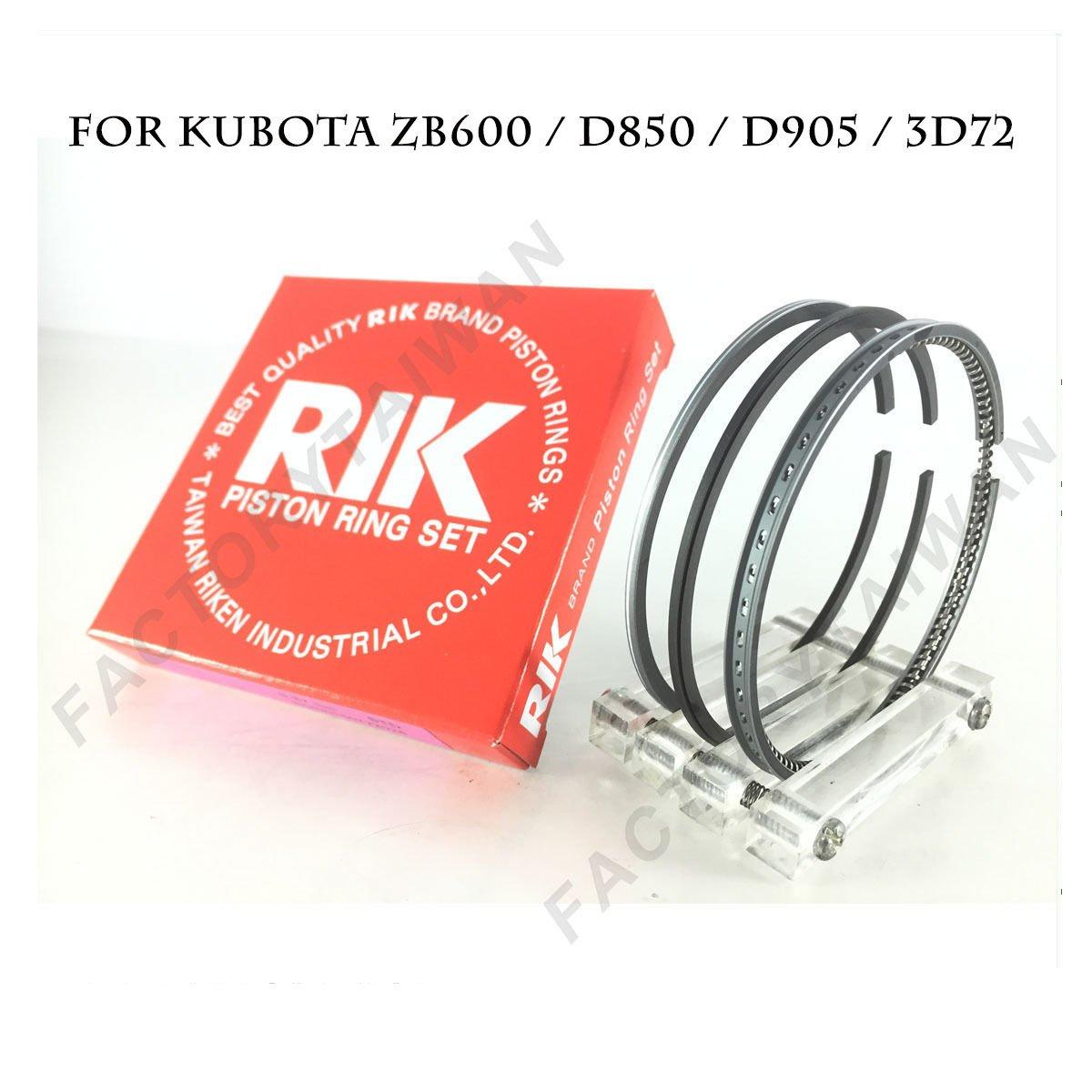 Riken Piston Ring STD 72mm for KUBOTA ZB600 / D850 / D905 / 3D72 / V1205 Riken Taiwan
