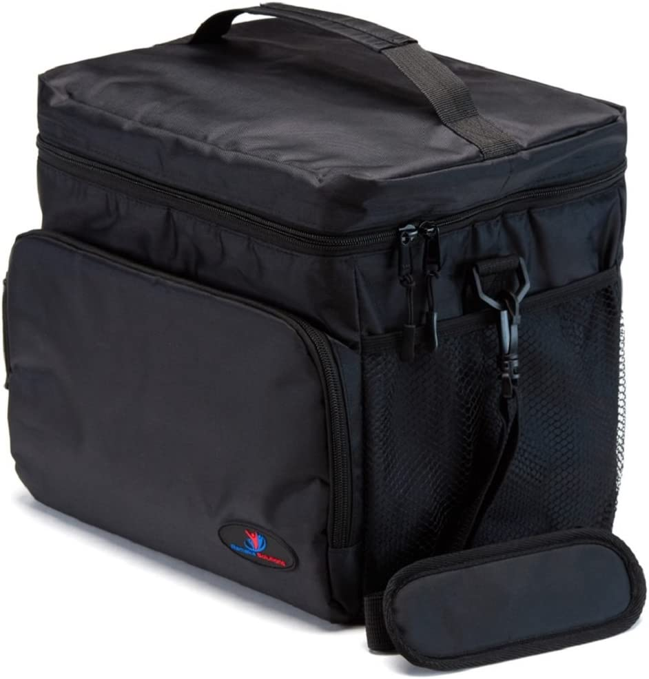 Insulated Lunch Box for Men | Lunch Cooler Bag | Lunch Boxes for Adults | Large Lunch Bag | Nylon Mens Lunch Box by Ramaka Solutions | Non-Toxic Food Grade Base Plate | 11.6 x 9.1 x 10.6 Inches Black