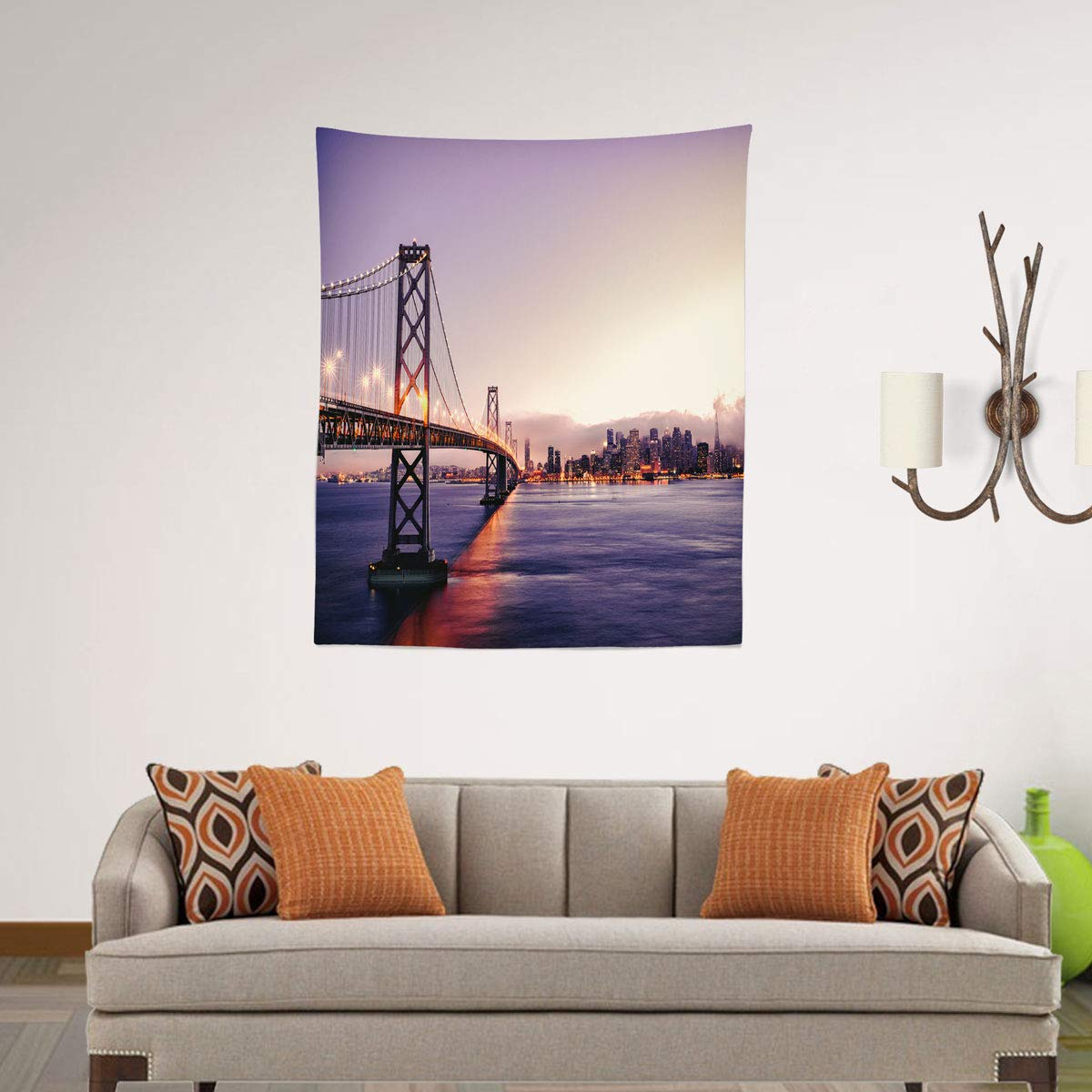 Amazon.com: Leif George Wall Tapestry Hanging, San Francisco ...