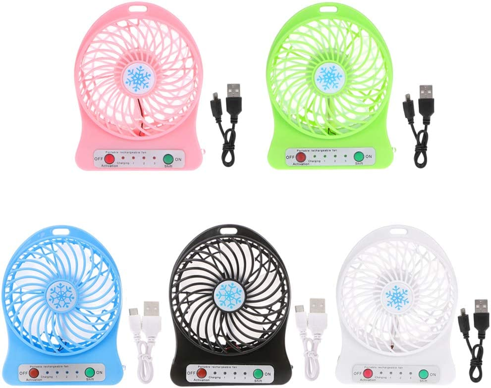 HOT SALE Portable LED Light Fan Air Cooler Mini Desk USB Fan Third Wind USB Fan