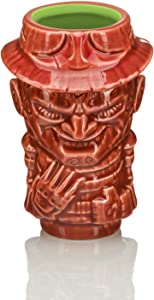 Geeki Tikis A Nightmare On Elm Street Freddy Krueger Ceramic Mini Muglet | Geeki Tikis Horror Series Official Nightmare On Elm Street Tiki Style Shot Glass | Holds 2 Ounces