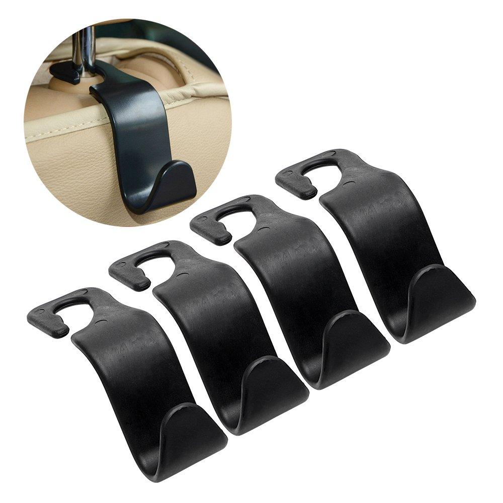 4 Teile // satz Verschlussclip Haken Gep/äcktr/äger ITimo Auto Kopfst/ütze Tasche Aufh/änger Autositz R/ückenclip
