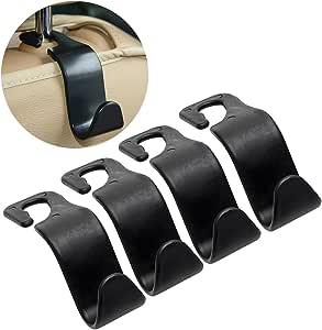 iTimo 4Pcs/Set Car Headrest Bag Hanger Auto Fastener Clip Seat Back Hooks Luggage Holder Car Clips Stowing Tidying Car Organizer