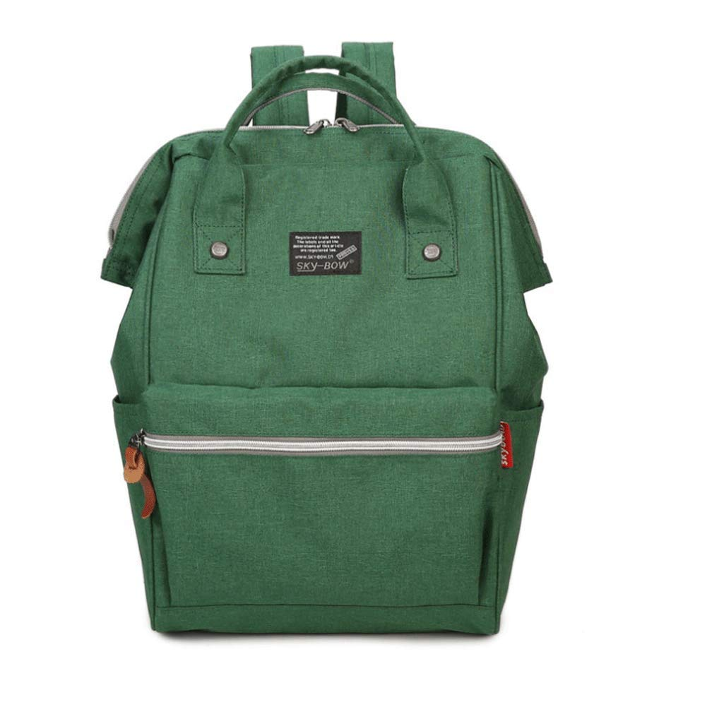Green Women's backpack bigcalibre backpack middle school student bag