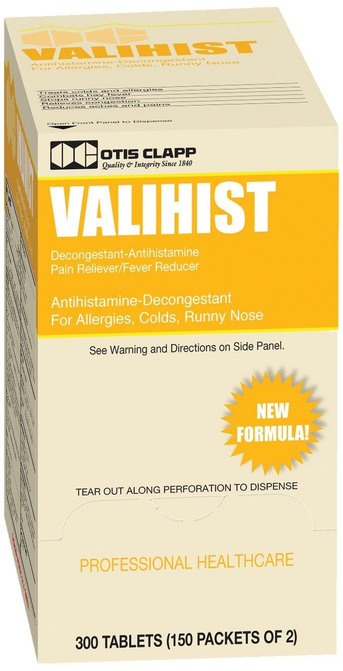 Valihist Antihistime-Decongestant Tablets Case Pack 150