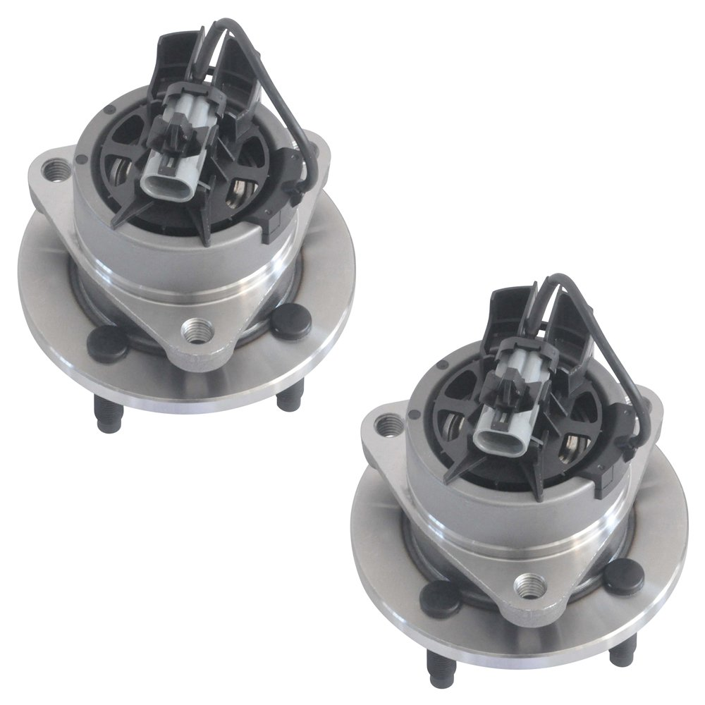 Pair New FRONT Wheel Hub Bearing Assembly 4 Lug for Chevy Cobalt G5 Ion w//ABS DRIVESTAR 513204X2