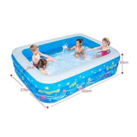 Piscina Hinchable Rectangular para niños, de Interior y al ...
