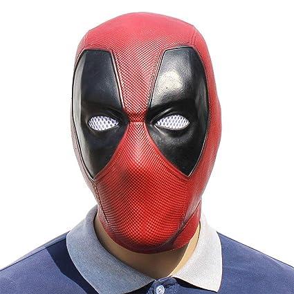 FLy Máscara De La Máscara Muerta De Halloween Máscara De Látex Hood Deadpool Decoración Navidad Cosplay