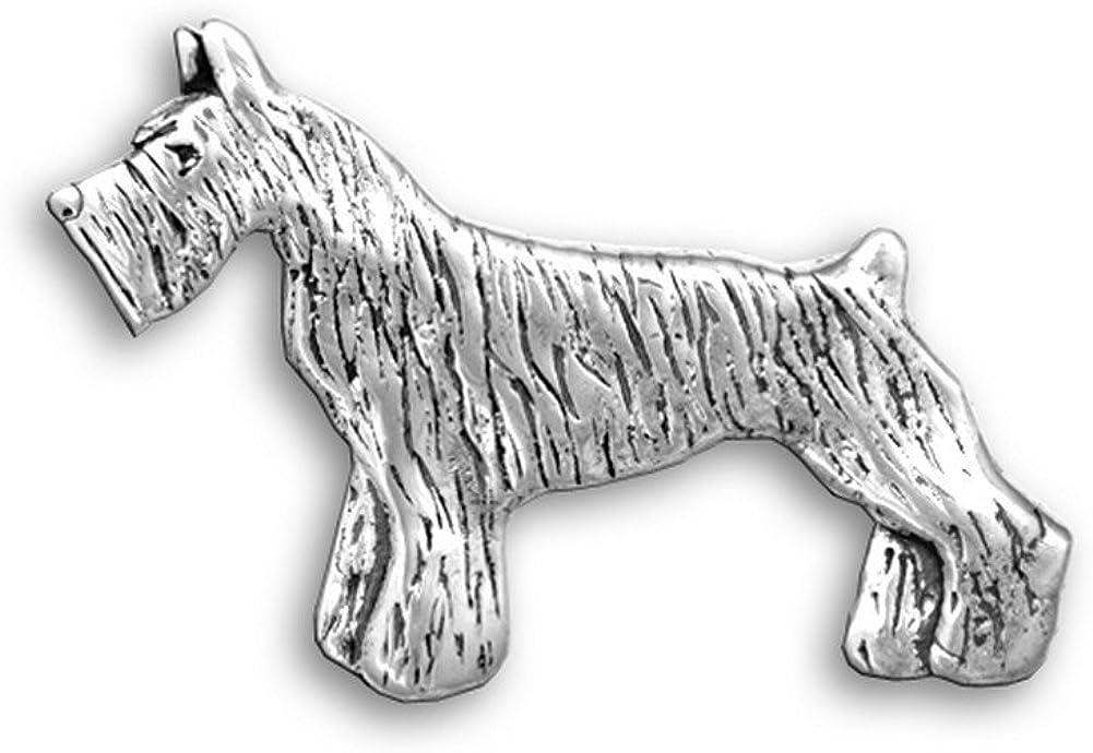 The Magic Zoo Sterling Silver Schnauzer Pin