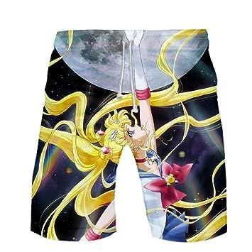Traje de baño Unisex con Estampado 3D de Sailor Moon Anime ...