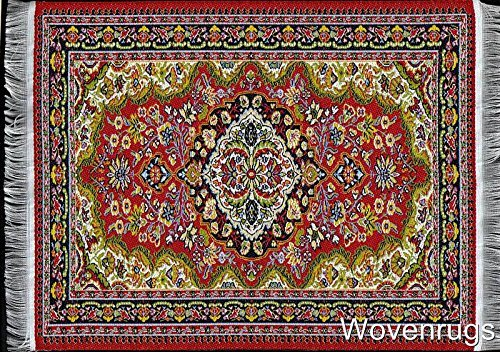 colorful-red-woven-rug-mouse-pad-oriental-design-carpet-computer-mousemat-with-support