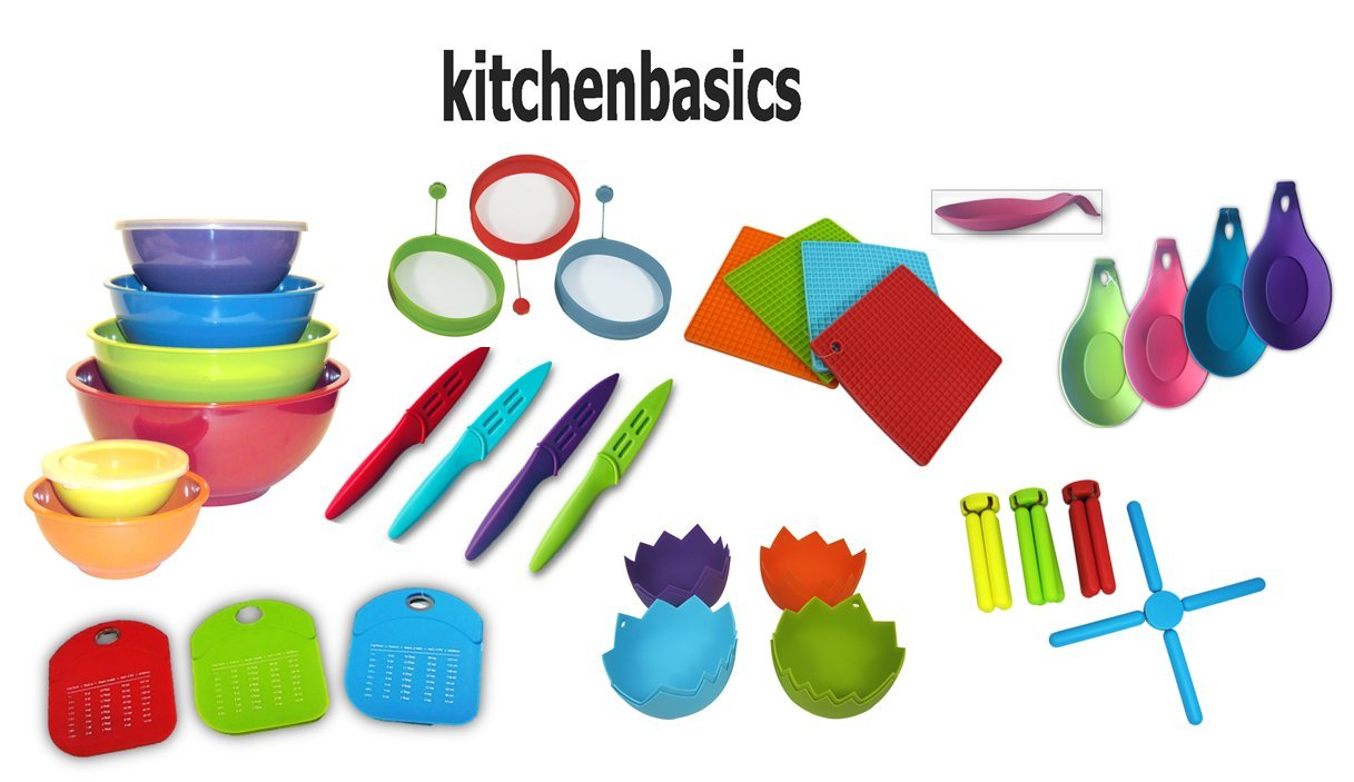 Kitchenbasics Green Berry Bowl with Strainer and Lid - 3 Piece Set