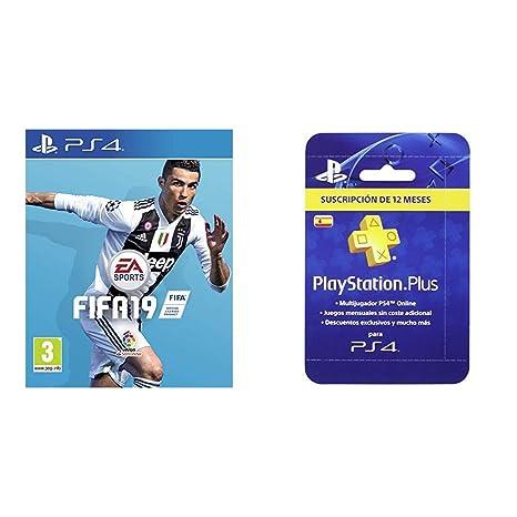 FIFA 19 Edición Estándar + Sony - Tarjeta PSN Plus Para 365 Días ...