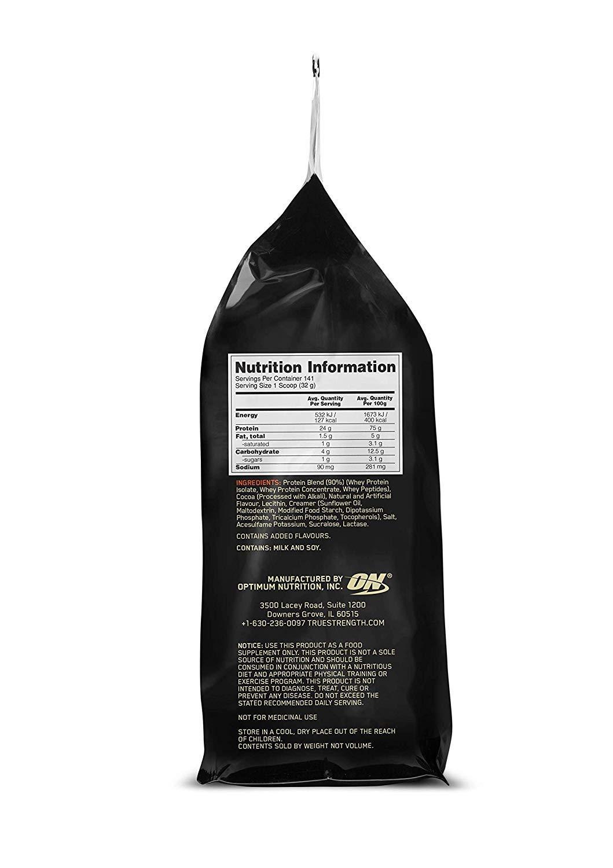OPTIMUM NUTRITION GOLD STANDARD 100% Whey Protein Powder, Extreme Milk Chocolate, 10 Pound by Optimum Nutrition (Image #5)