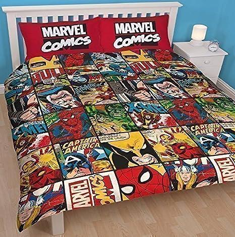 Copripiumino Avengers.Marvel Comics Libro Defenders Set Copripiumino Doppio Lenzuola