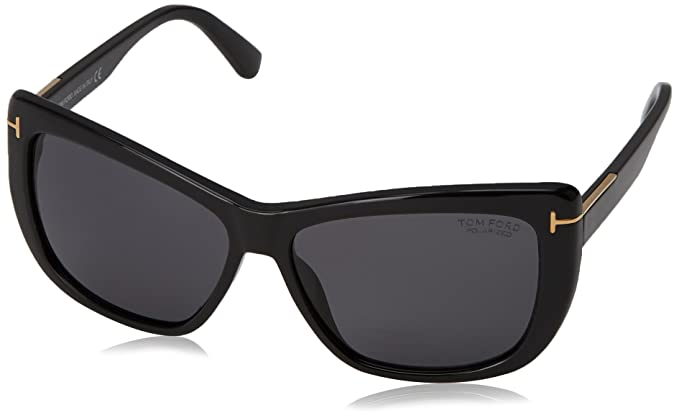 9093894cf8c10 Image Unavailable. Image not available for. Color  Tom Ford Sunglasses TF  434 Lindsey Sunglasses 01D Black 58mm