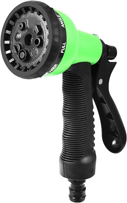 Pistola de riego Pistola para Manguera de riego Pistola de agua de jardín con boquilla 8 modos diferentes presión alta riego de plantas y ducha de mascotas-verde: Amazon.es: Jardín