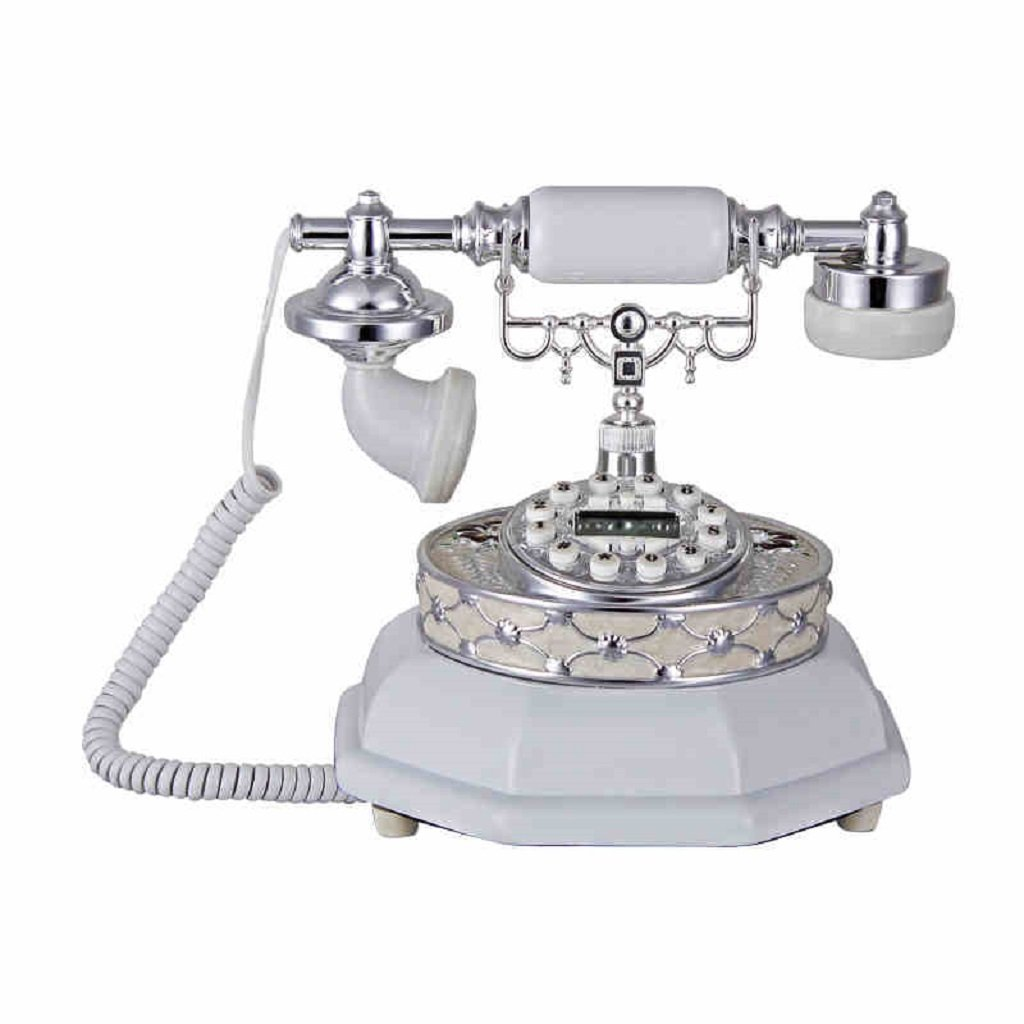 LCM Wired Telephone Ceramic High - End Office Telephone Home Desktop Retro Set (White,Resin, 262624CM) by LCM