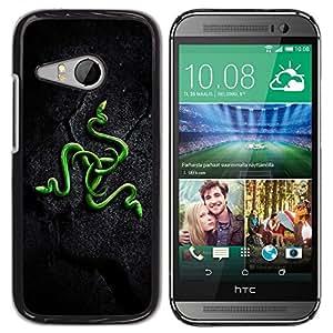 TopCaseStore / la caja del caucho duro de la cubierta de protección de la piel - Green Snakes - HTC ONE MINI 2 / M8 MINI