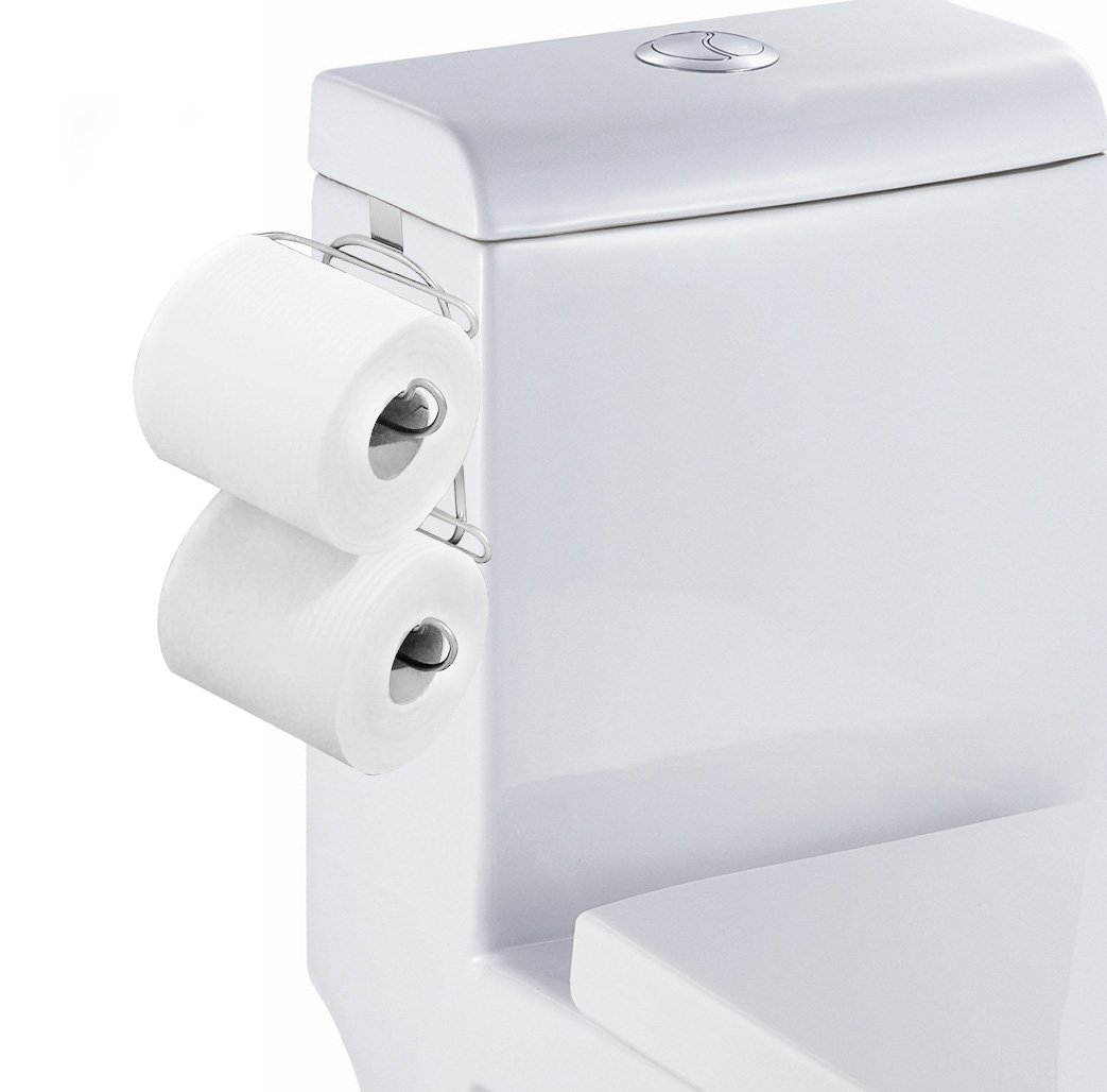 TQVAI Over The Tank 2 Roll Toilet Bath Tissue Holder