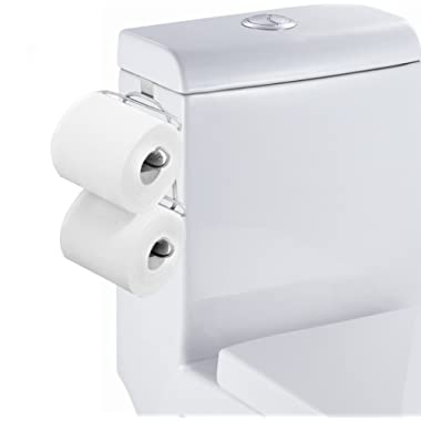 TQVAI Over The Tank 2 Roll Toilet Bath Tissue Holder,Chrome Finish