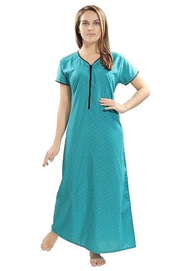 Eazy Women s Front Open Long Zipper Nighty  Amazon.in  Clothing ... 80145b940