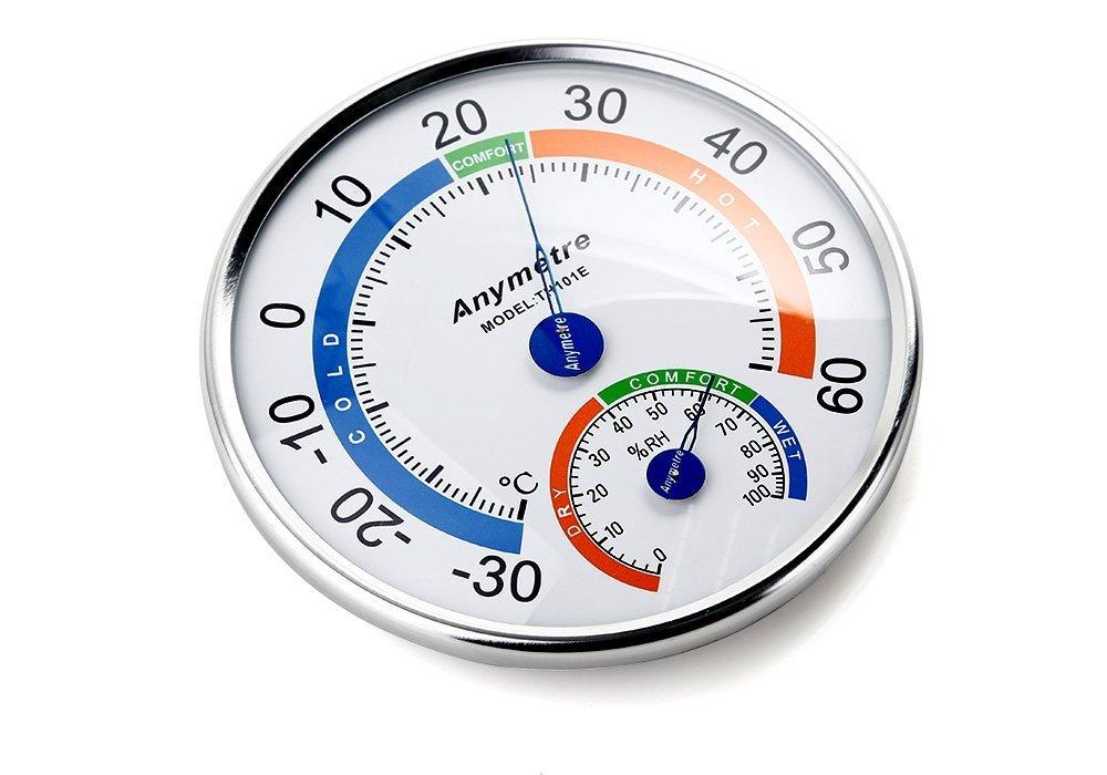 Higr/ómetro y Term/ómetro Zogin medidor de la temperatura y humedad para interior y exterior