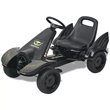 Stylizio Pedal Go Kart - Carrito con Asiento Ajustable, Color Negro: Amazon.es: Hogar