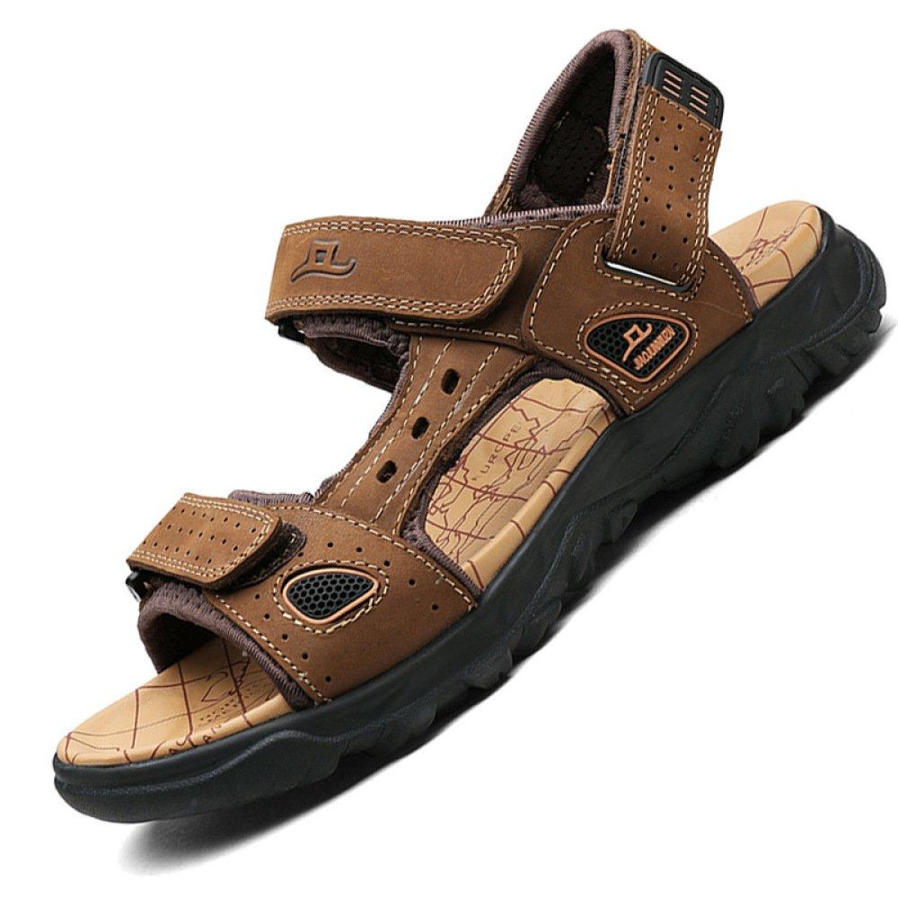 Sandalias para Hombres Sandalias De Playa Respirables De Playa Sandalias para Exteriores De Peep Toe Deportivas 47 EU|Darkbrown