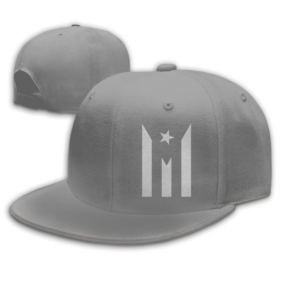 5e9caea46f3 Amazon.com  Men Women Fashion Puerto Rico Hat Resiste Boricua Flag  Adjustable Flat Brim Baseball Cap for Outdoor Sun Snapback Hats Black   Clothing