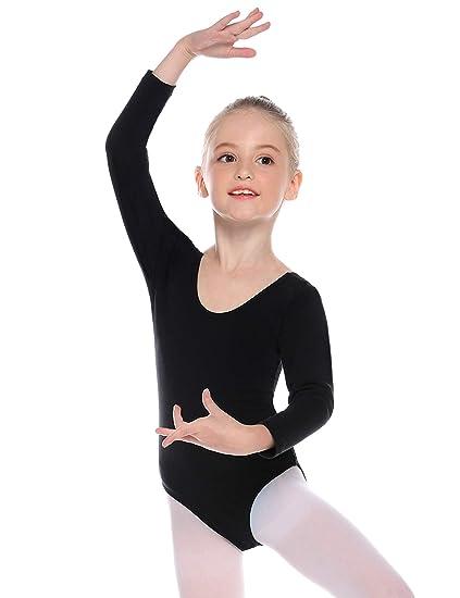 Hawiton Maillot de Danza Ballet Gimnasia para niña,algodón ...