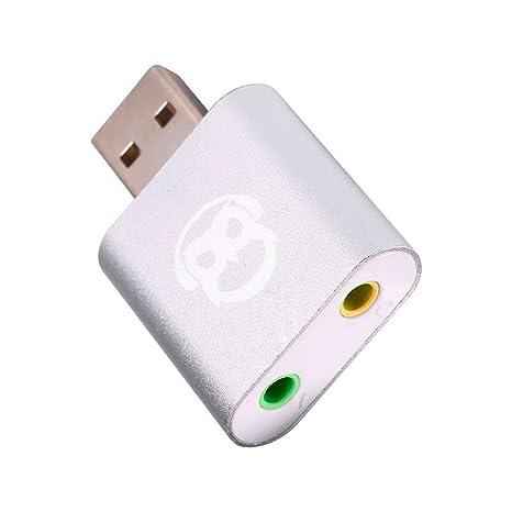 Amazon.com: powerdewise aluminio USB 2.0 External Sound ...