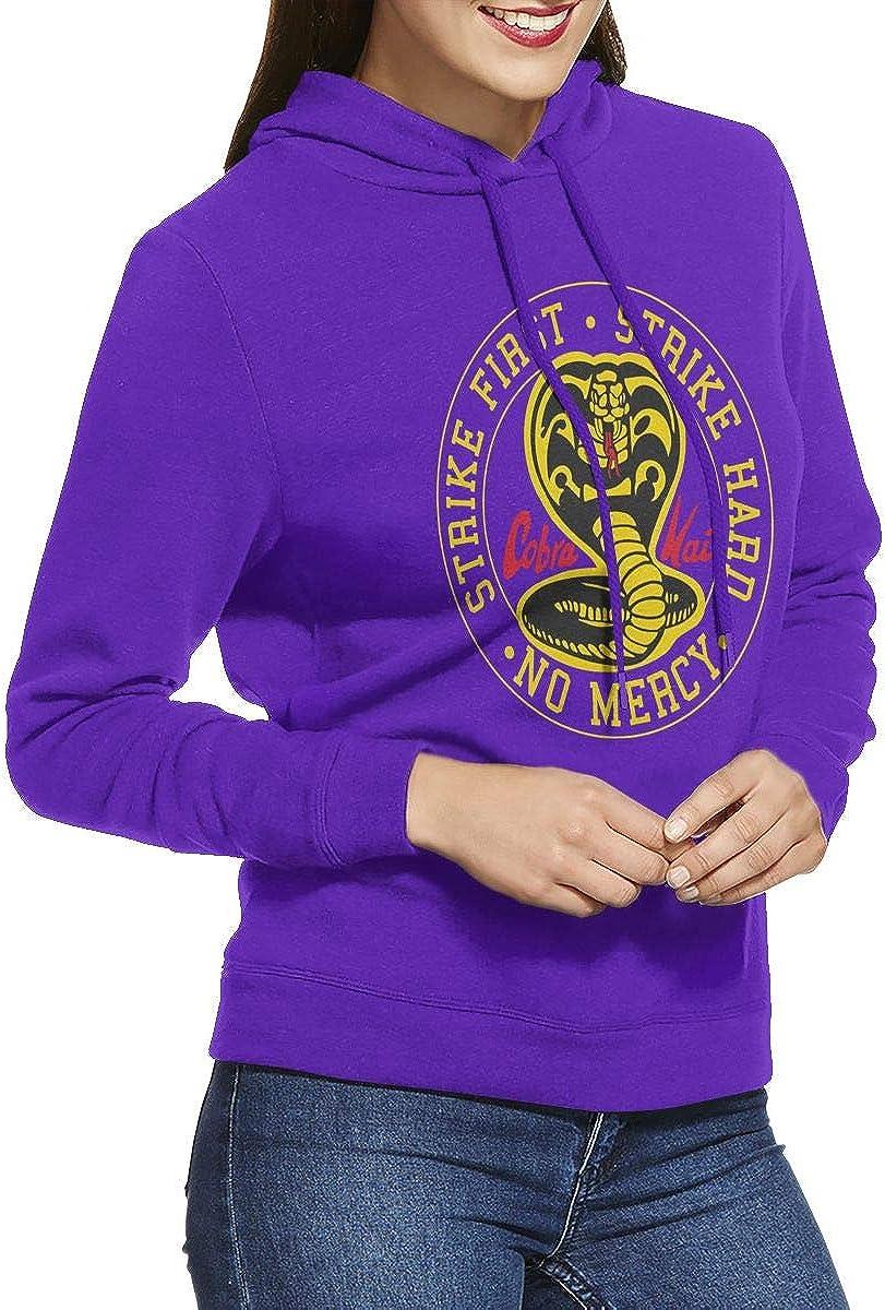 F2018GBi Cobra Kai Logo1 Lightweight Pullover Hoodie Sweatshirt for Women Plus Size