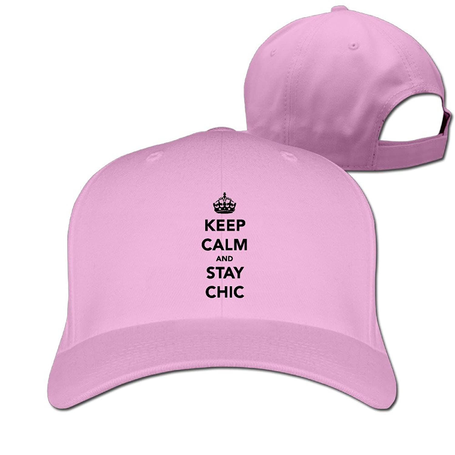 HNN Unisex Keep Calm And Stay Chic Peaked Baseball Caps Hats