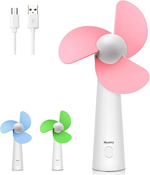 USB Small Fan Personal Quiet Mini Handheld Fan Portable USB Small Table Desk Personal for Office Desktop Home Cooling Outdoor Travelling Camping Convenient Mini Color : Pink