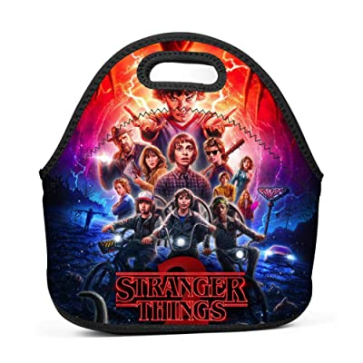 G10F10-4GF Neoprene Waterproof Stranger The Monster_Things Reusable Insulating Lunch Bag Adult Child Infant Nurse Bento bag11x5.5x11.4 (Inch): Office Products