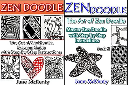 ZEN DOODLE: The Art of Zen Doodle  Drawing Guide with Step by Step