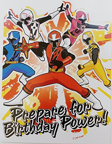 Power! POWER RANGERS Happy Birthday Greeting Card ()