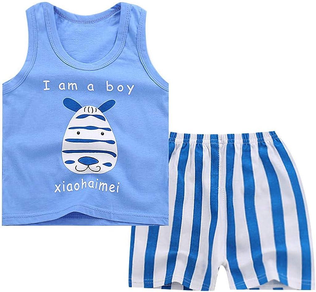 kaifongfu Toddler Boys Girls 2Pcs Outfits Sleeveless Cartoon Tank Tops Vest Pants Tracksuit 6M-4Y