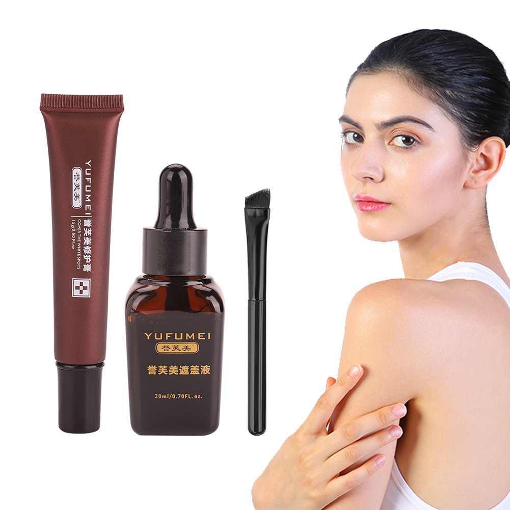 Sonew Vitiligo Concealer Repair Cream Restauración profesional Vitiligo Scar Coverage Spot Waterproof Natural Extract Formula