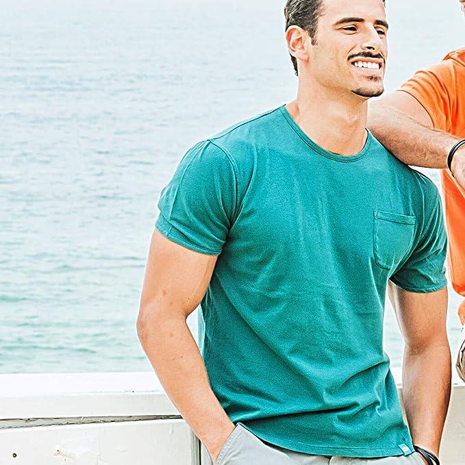7e9b79c6b Panareha Men's Margarita Pocket t-Shirt Green | Amazon.com