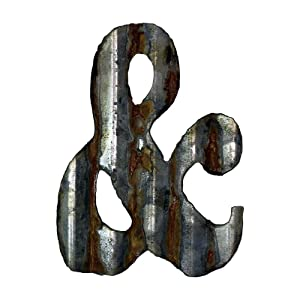 Custom Cut Decor 8'' Rusty Galvanized Corrugated Metal Letter -&