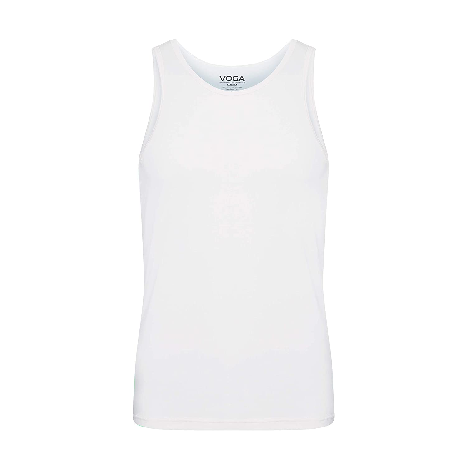 Voga Mens 3 Pack White Color Modal Breathable Cotton Soft Comfy Tank Tops