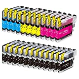 brother 5490cn - E-Z Ink (TM) Compatible Ink Cartridge Replacement for Brother LC-61 LC61 Series (12 Black, 4 Cyan, 4 Magenta, 4 Yellow) 24 Pack LC61BK LC61C LC61M LC61Y