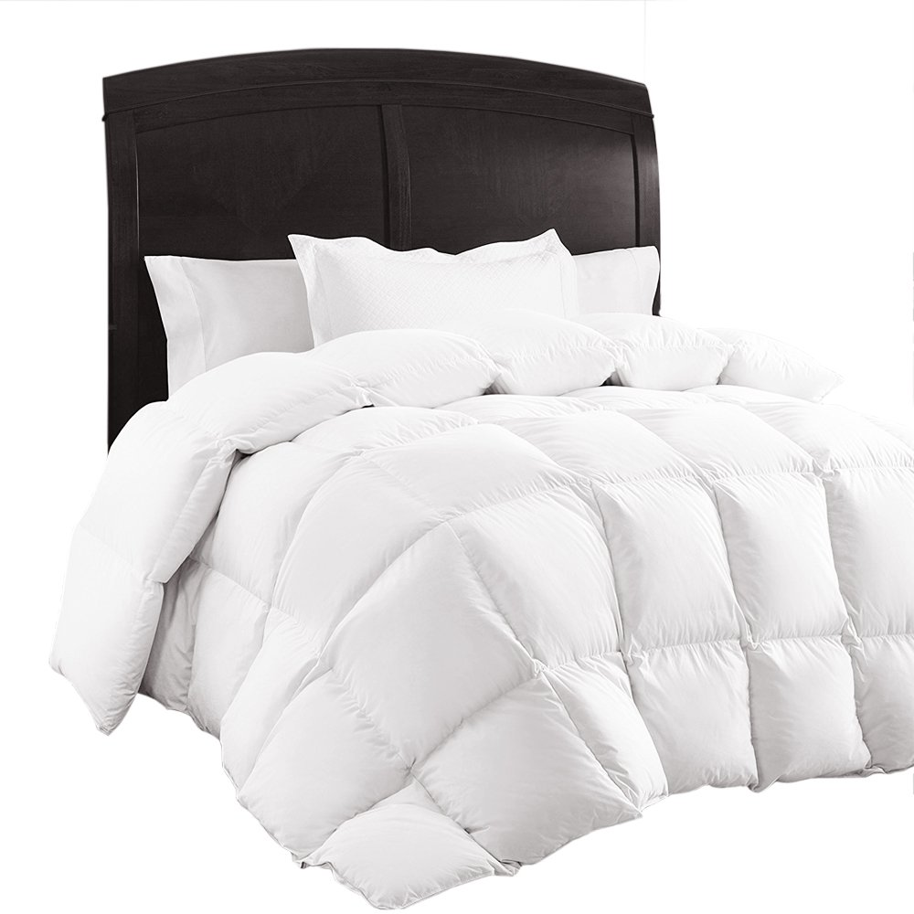 Queen Comforter, Down Duvet Alternative Insert Set with Corner Tabs, All Season Quilted White Hypoallergenic & Reversible, Box Stitched Goose Down Alternative Fill, Brushed Microfiber by Sable
