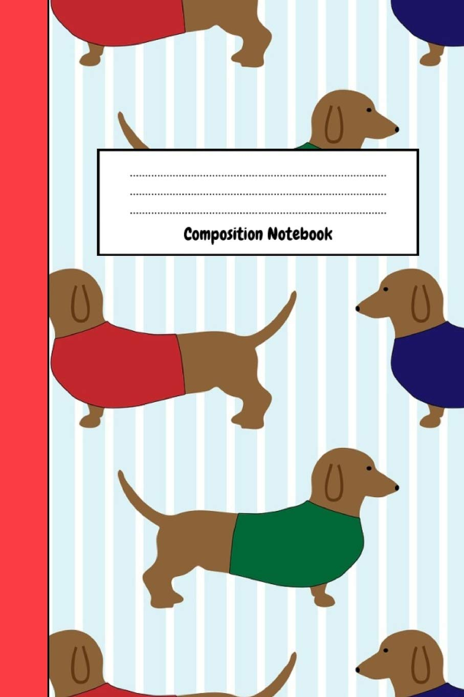Journal Notepad Lined, 6 x 9 Diary Gifts For Dachshund Lovers Composition Notebook
