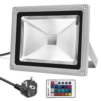 16 Farb Ustellar 2er RGB 30W LED Fluter Mit Fernbedienung europäischer Stecker
