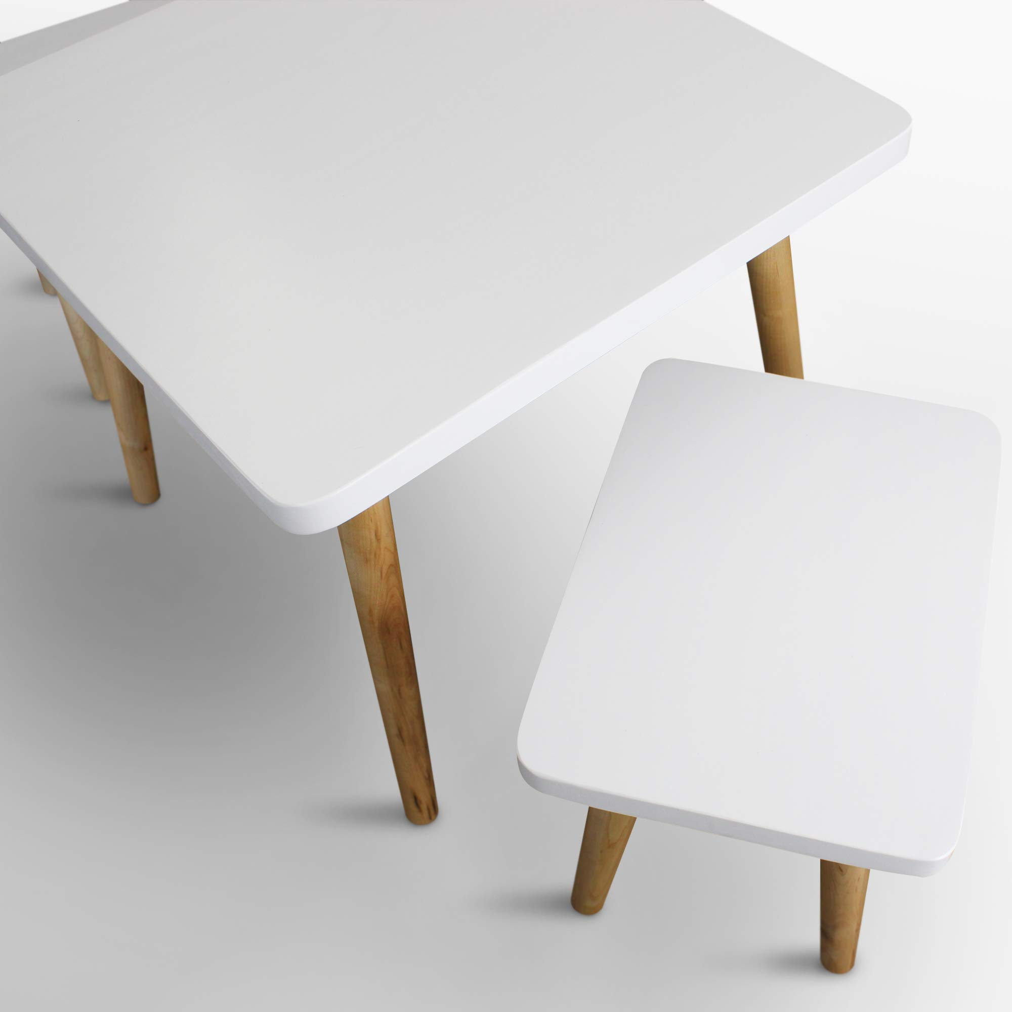 American Trails 560-31 The Easel Table & Chair Set Kid Table, Two-Tone (White, Natural) by American Trails (Image #9)